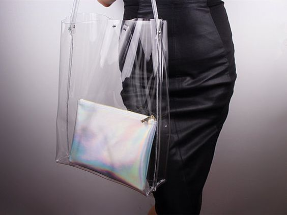 yve saint laurent handbags - Clear Oversized Extra Large Huge Tote PVC Vinyl Plastic Large ...