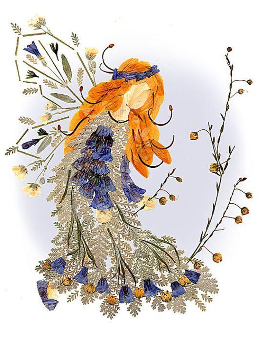 Fairy of Compassion - Original OOAK Flower Faery Art - Imagine Magic - 8 x 10 Fine Art Print - Fantasy Design
