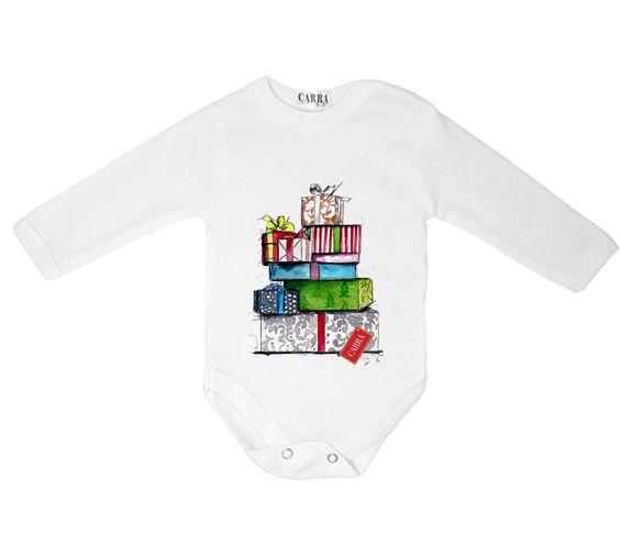 Carra Christmas Gifts baby bodysuit; 0-3m, 3-6m, 6-9m, 9-12m