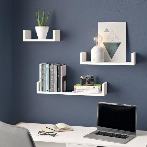 3 Tlg Schweberegal Set In U Form Clearambient Floating Shelves Shelves Wall Shelves