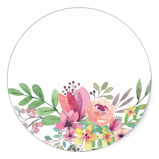 Watercolor Floral Baby Shower Thank You Classic Round Sticker Zazzle Com Tarjetas Para Imprimir Gratis Pegatinas De Agradecimiento Ideas Para Logotipo