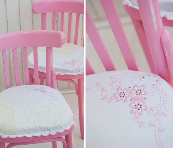 Vintage ispired chair makeovers by Dana Israeli
