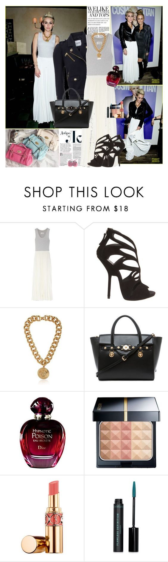 """Celebrity Style: Miley Cyrus (19/02/2013)"" by lulys2nano ❤ liked on Polyvore featuring Cyrus, Jennifer Lopez, Moschino Cheap & Chic, Maison Margiela, Giuseppe Zanotti, Versace, Yves Saint Laurent and MAC Cosmetics"