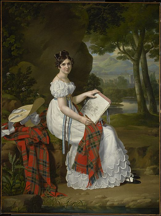 Woman Sketching in a Landscape