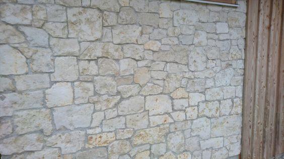 Bruchsteinmauer Römerkalkstein  Wandverkleidung