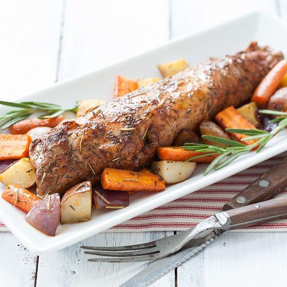 Roasted Pork Tenderloin with Rosemary Thyme Vegetables ...