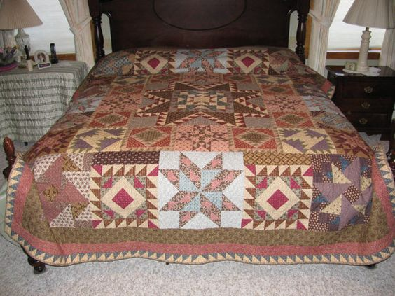 King Size Civil war (1860s) theme  quilt. Each block represents a major battle and has the story..