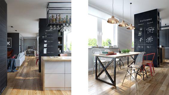 Kitchen, industrial. Desiged by INT2architecture ©