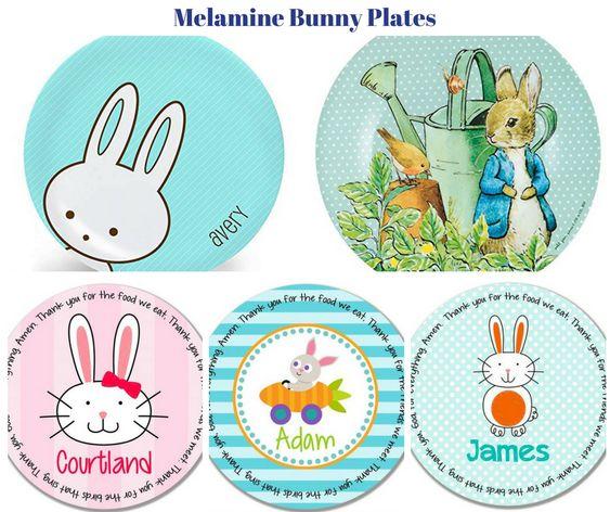 Melamine Bunny Plates