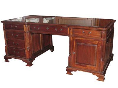 Antique partner desk for home library