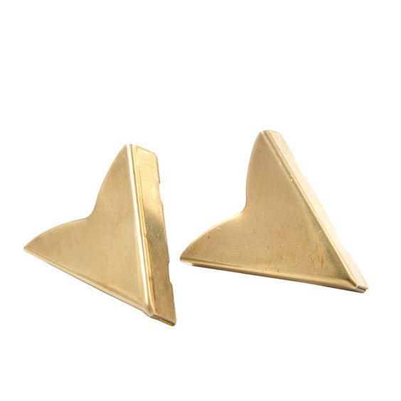 Vintage Brass Collar Tips    regalrose.co.uk
