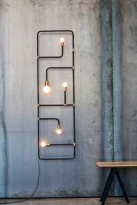 Lampe tuyau design