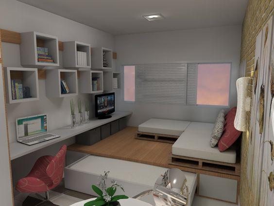 Déco pour petits espaces : quand sa chambre est aussi son salon ... - Braidstylelasuite