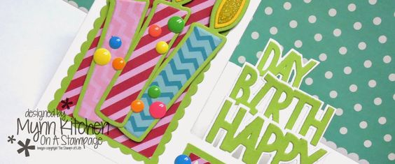 On A Stampage...: The Stamps of Life: Side Step Candle Birthday