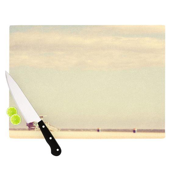 """Myan Soffia """"Toffee - Marshmallow"""" Sandy Beach Cutting Board"""