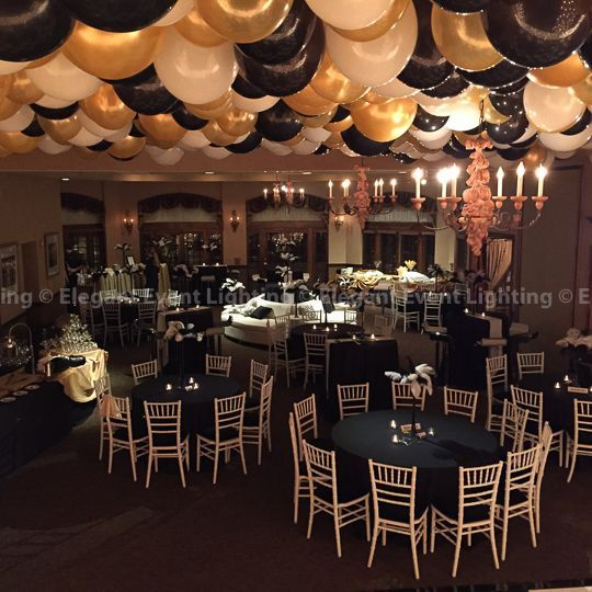 Black And Gold Masquerade Party Centerpieces Prom Decor