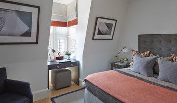 Helen Green Design, London Install - Helen Green Design, London uses PurePhoto architectural prints in the bedroom in a London home.