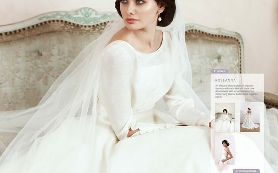 """Sassi Holford """"Roseanna"""" via www.sassiholford.com  I love the organza button back jacket for two bridal looks from one dress."""