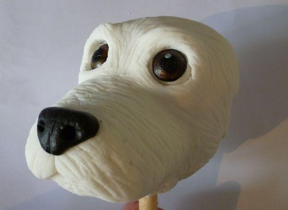 3D Dog head cake