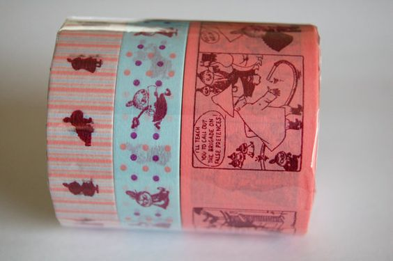 3 rolls set of Moomin washi masking tape 30mm x 15M and 2 x 15mm x 15M = i want this bad!! will i resist it?!?!