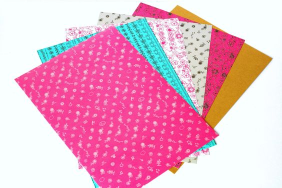 6 Self-Adhesive Sheets Pink / Flowers