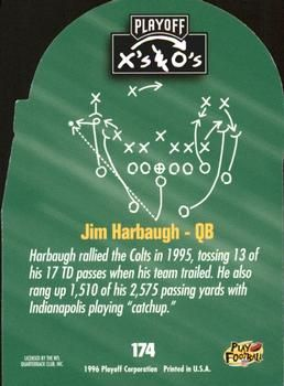 1996 Playoff Prime - X's and O's #174 Jim Harbaugh Back