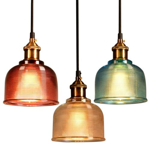 Industrial Glass Pendant Light Color Plating Ceiling Lamp Shade Hanging Fixtures Ebay In 2020 Glass Pendant Light Vintage Pendant Lighting Diy Pendant Light