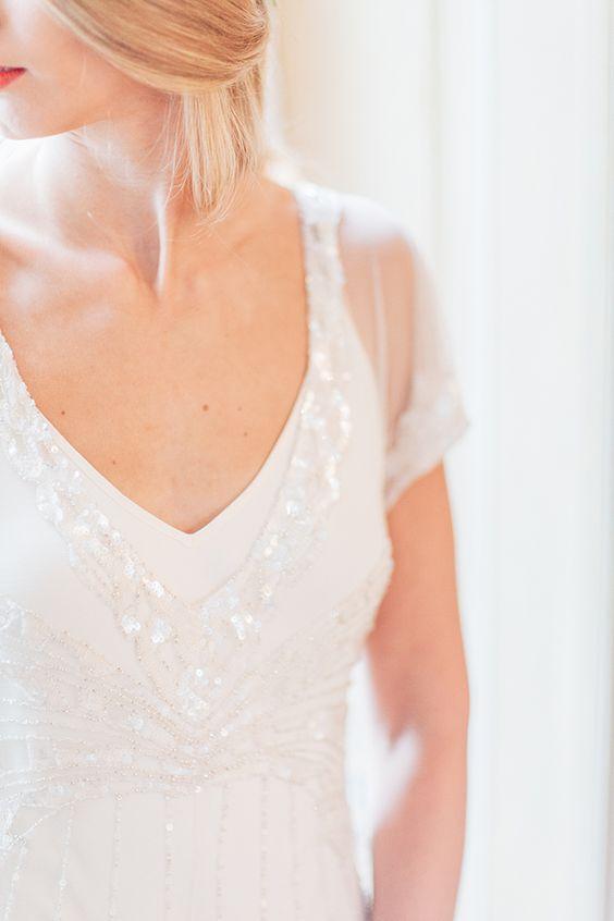Hochzeitsinspiration in Blau und Gold | Friedatheres.com  Foto: Anja Schneemann