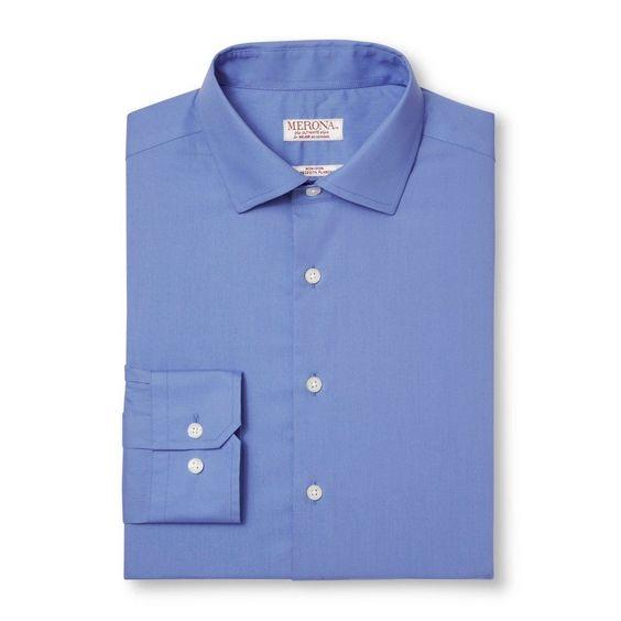 Men's Long Sleeve Button Down French Placket Dress Shirt