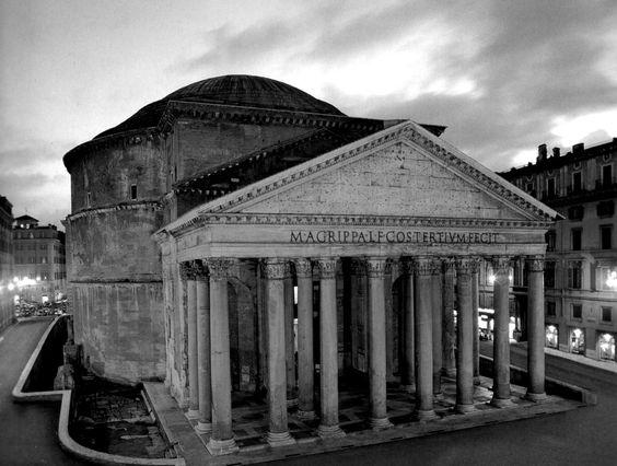 Pantheon de Agripa (27 a.C., reconstrucción 118 d.C.), Roma. Apolodoro de Damasco (60 - 130). Adriano.