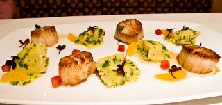 ... Scallops, Dungeness Crab Agnolotti, Satsuma Tangerine Butter, Radish