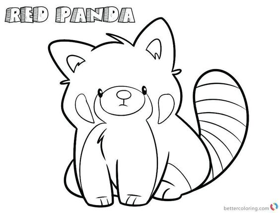 Baby Red Panda Coloring Page Panda Coloring Pages Panda Sketch Red Panda Cartoon