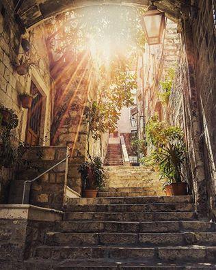 Beautiful street in Dubrovnik, Croatia