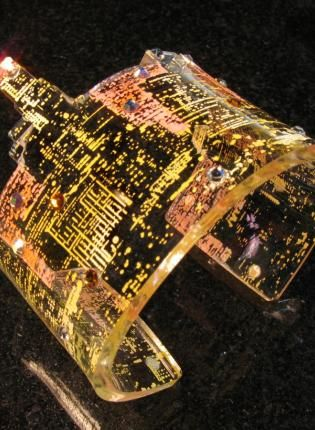 Los Angeles City Skyline Cuff by Alysia Van Camp >> awesome!