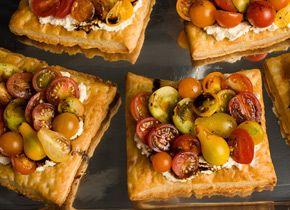 Fresh Tomato and Cheese Puff-Pastry Tart