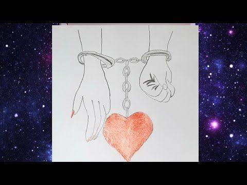 تعليم الرسم بالرصاص رسم يد ولد وبنت مع قلب How To Draw Lovely Hand With Pencil Sketch Youtube