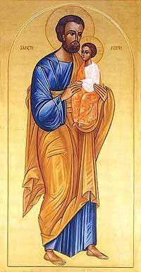 S. JOSE Y EL INFANTE DIOS. icones bizantinos