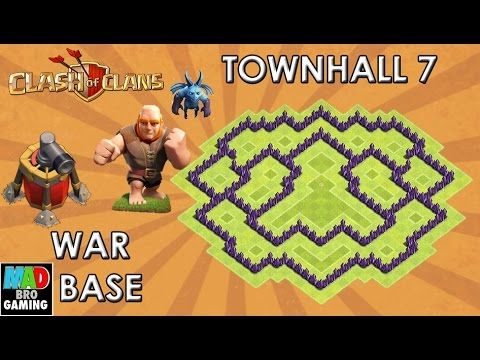 clash of clans offensive base layout