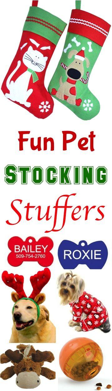 23 Fun Pet Stocking Stuffers! So many fun Christmas gift ideas your