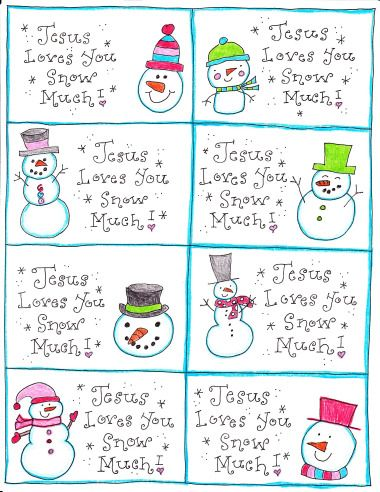 Printable notes to share the Good News - leave them in library books, restaurant checks, etc.