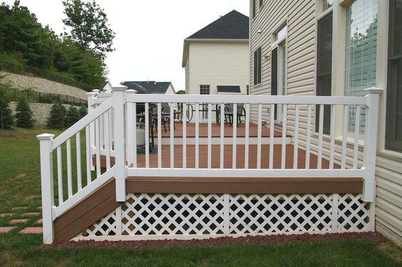Vinyl Deck Railing With Composite Check Out Many Deck Railing Ideas