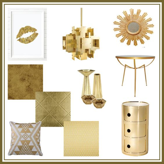 There nothing like some gold to add a timeless look to the home.