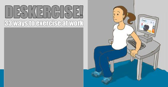 Deskercise ... Not sure how that would go down in my open plan office, but some of the less obvious ones will be incorporated though! #charlotteordchallenge