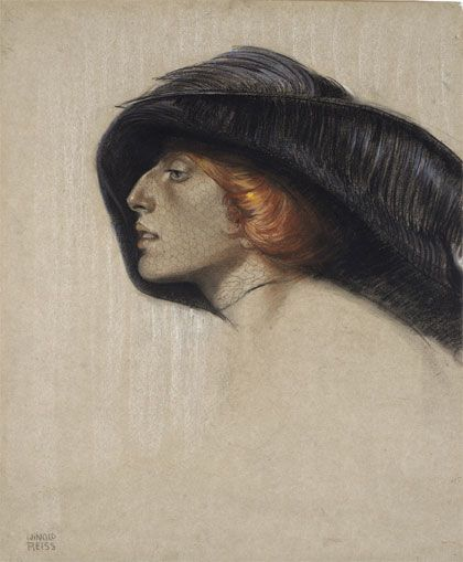 Henrietta Reiss, 1912 by Winold Reiss (1886 – 1953, German/American):