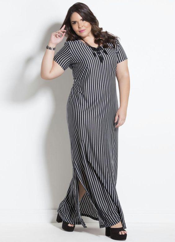 Vestido longo plus size: 85 modelos para você compor looks arrasadores