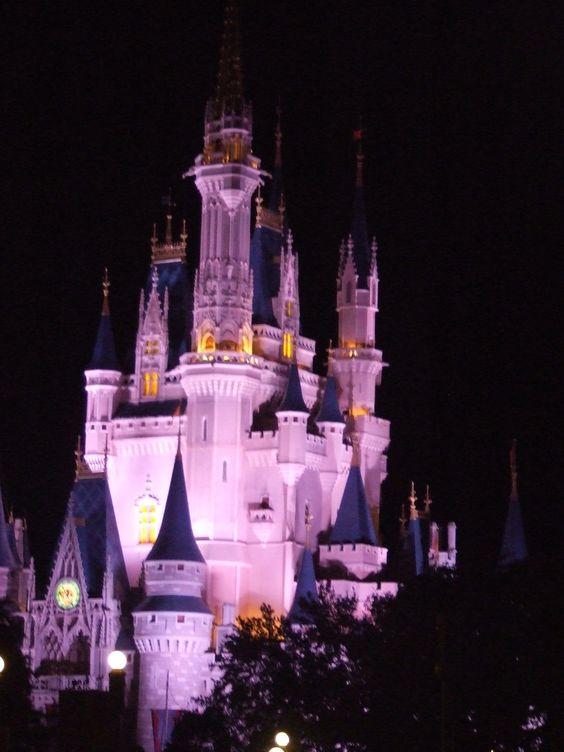 Cinderella Castle viewed from Tomorrowland Terrace, Magic Kingdom, WDW.