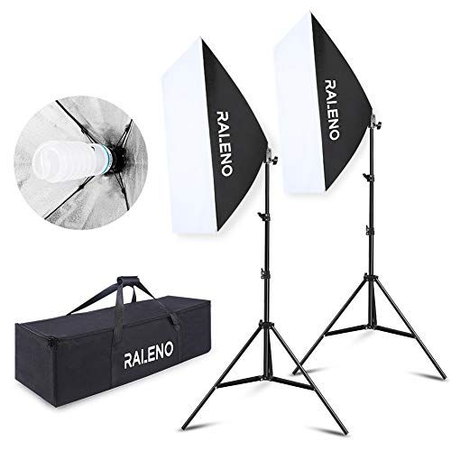 2x 700W Softbox Photography Studio Continuous Lighting Kit w// Light Stand /& Bag