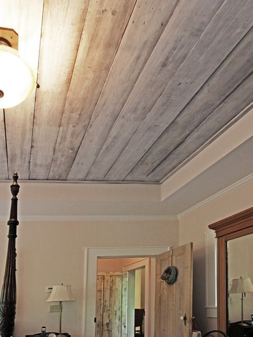 Pickled Wood Ceiling Houzz Wood Ceilings House Design Log Cabin Rustic