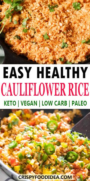 Fried Cauliflower Rice - Keto lunch recipe