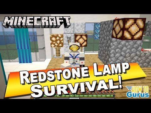 How To Make A Minecraft Redstone Lamp Design With Switch Redstone Lamp In 2020 Minecraft Redstone Lamp Minecraft Redstone Lamp Design
